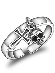 cheap -Women's Cuff Ring Korean Cool Silver Cross Jewelry For Other Daily