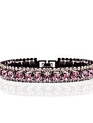 cheap -Women's Synthetic Amethyst Chain Bracelet / Tennis Bracelet - Cubic Zirconia, Rhinestone Bracelet Light Purple For Wedding / Evening Party