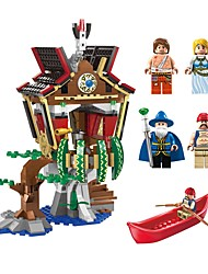 cheap -Building Blocks Boat Toys Novelty Architecture Classic Theme Landscape Architecture Pirates Non Toxic New Design Kids Adults' Boys' 506