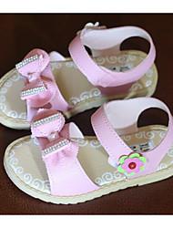 preiswerte -Mädchen Schuhe Kunstleder Frühling Sommer Komfort Sandalen Für Normal Weiß Rosa