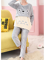 cheap -Women's Suits Pajamas,Animals Cotton Polyester Blushing Pink Gray