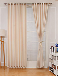 cheap -Rod Pocket Grommet Top Tab Top Double Pleat Curtain Formal Casual Modern, Jacquard Solid Bedroom Polyester Material Curtains Drapes Home