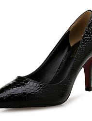 Недорогие -Жен. Обувь Искусственное волокно Кожа других животных Весна Осень Удобная обувь Оригинальная обувь Обувь на каблуках На шпильке