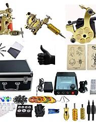 abordables -BaseKey Machine à tatouer Kit de tatouage professionnel, 3 pcs Machines de tatouage - 3 machine x tatouage en alliage pour la doublure et