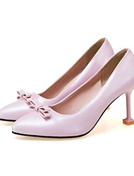 cheap -Women's Shoes Customized Materials Spring Summer Basic Pump Heels Pointed Toe Closed Toe Bowknot For Wedding Dress Pink Beige Black