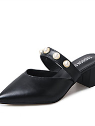 Femme Chaussures Polyuréthane Eté Confort Sandales Marche Talon Bottier Bout rond Creuse Pour Décontracté Noir Brun claire