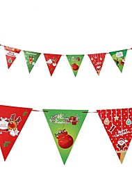 cheap -Christmas Decorations Christmas Flags Christmas Party Supplies Toys Santa Suits Elk Holiday Santa Suit Kids Adults' Pieces