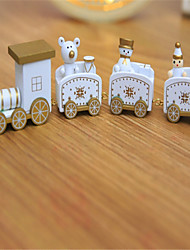cheap -Christmas Decorations Christmas Gifts Christmas Toys Christmas Trees Train Toys Train Snowman Holiday For Children Snowman Wood 1pcs