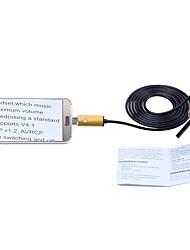Недорогие -2 в 1 usb эндоскоп камера 2m кабель золото 5,5 мм объектив ip67 водонепроницаемый осмотр бороскоп для windows android змея cam