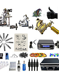 cheap -Professional Tattoo Kit  Rhino 3 Tattoo Machines  Dual Digital  Power Supply Inks Not Included
