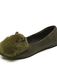 cheap -Women's Shoes Fleece Winter Fall Moccasin Loafers & Slip-Ons for Casual Black Gray Army Green