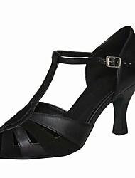 cheap -Women's Latin Sparkling Glitter TPU Sandal Heel Professional Customized Heel Black Customizable