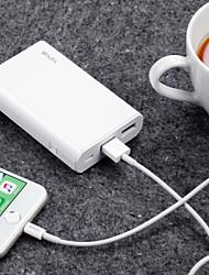 economico -waza 10000 mAh per batteria esterna banca di potere 5 v per 2.4 a per protezione ripristino caricabatterie / protezione contro scarica scarica / protezione sovratensione led