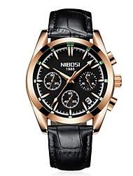 baratos -Homens Quartzo Relógio de Pulso Relógio de Moda Chinês Venda imperdível Couro Couro Legitimo Banda Amuleto Preta Marrom