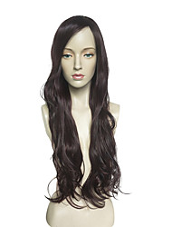 cheap -Synthetic Wig Long Wavy Wig Women No Bangs Heat Resistant Capless Party Wigs