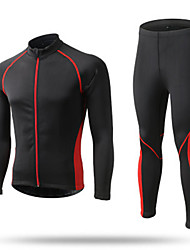 cheap -Men's Long Sleeves Cycling Jersey with Tights - Black Red Blue Bike Clothing Suits, Quick Dry