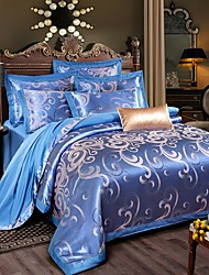 Shuian® Luxury Jacquard Cotton 4pcs Bedding Set Pillowcase Covers Sheet Home Textiles Quilt Cover Bed Flat Sheet