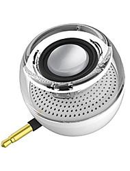 economico -F10 Altoparlante Portare Creativo Zero Audio (3,5 mm) USB Casse acustiche per esterni Nero Argento