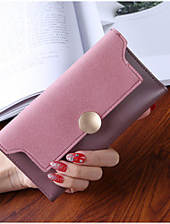 cheap -Women's Bags PU Wallet Buttons for Shopping Office & Career All Seasons Green Black Gray Purple Brown