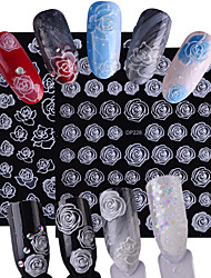 abordables -2pcs/set Fleur / Décalques pour ongles Autocollant pour ongles Nail Art Design