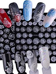billiga -2pcs/set Nail Sticker Blomma / Nail Decals Nail Art Design