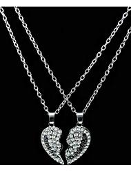 женские подвесные ожерелья сердце rhinestone сплава любовь моды ювелирные изделия для дня рождения ежедневно