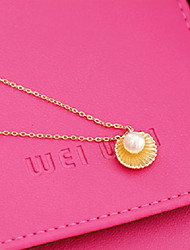 cheap -Women's Pearl Pendant Necklace - Imitation Pearl, Shell Gold, Silver Necklace For Daily, Casual