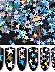 Недорогие -1шт Пайетки 6 цветов маникюр Маникюр педикюр Классика / Лазерная голографическая Повседневные