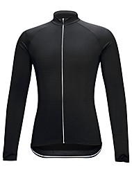 cheap -Cycling Jersey Unisex Long Sleeve Bike Compression Clothing Jersey Bike Wear High Elasticity Solid Black