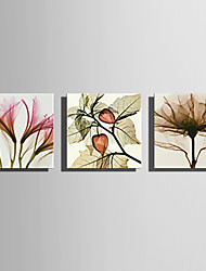 cheap -Stretched Canvas Print Canvas Set Florals Modern,Three Panels Canvas Horizontal Print Wall Decor For Home Decoration