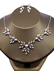 cheap -Women's Cubic Zirconia Jewelry Set - Zircon Flower Include White For Wedding Party