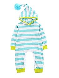 cheap -Baby Boys' Stripe One-Pieces,Cotton Winter Spring/Fall Stylish Long Sleeves Light Blue