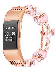 Недорогие -Ремешок для часов для Fitbit Charge 2 Fitbit Дизайн украшения Металл Повязка на запястье