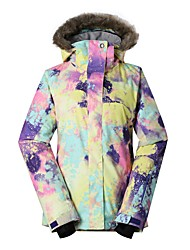 cheap -Women's Ski Jacket Windproof, Waterproof, Warm Skiing / Ski / Snowboard Eco-friendly Polyester, Silk Cloth Down Jacket Ski Wear