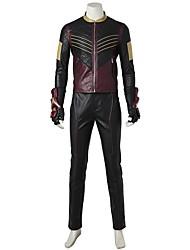economico -Costumi da supereroi Cosplay Costumi Cosplay Costume Cosplay da film Grigio e nero Top Pantaloni Guanti Altri accessori Halloween