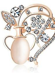 Недорогие -Жен. Броши Стразы Классика Мода Искусственный бриллиант Сплав Бутылка Бижутерия Назначение Повседневные