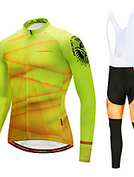 cheap -Cycling Jersey with Bib Tights Men's Long Sleeves Bike Bib Tights Tights Pants / Trousers Jersey Top Clothing Suits Quick Dry Windproof