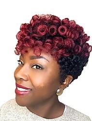 billige -Fletning af hår Bouncy Curl / Kenzie Curl Forhæklede fletninger Syntetisk hår 20 rødder / pakning Hårfletninger Kort Ny ankomst / Afrikanske fletninger