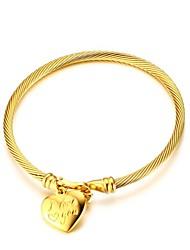 Недорогие -Жен. Браслет цельное кольцо Винтаж Elegant Титановая сталь Бижутерия Назначение Свадьба Для вечеринок
