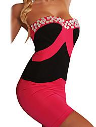 abordables -Uniformes Costume de Cosplay Fête / Célébration Déguisement d'Halloween Blanc Beige Rouge Bleu Fuschia Uniforme sexy