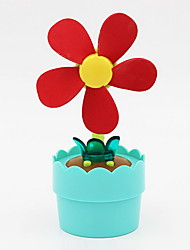 Toys Mini Electric Fan Night Light Toys Round Flower Shape Flower Flowerpot Classic Kids 1 Pieces