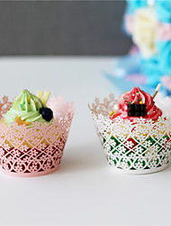 50Pcs/lot Clover Design Vine Lace Cup Cake Wrappers Table Decoration Tea Party Wedding Birthday Decoration Supplies