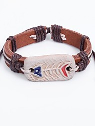 cheap -Men's Bracelet Bohemian China Leather Circle Jewelry For Casual Going out