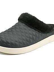 economico -Per uomo Scarpe PU (Poliuretano) Inverno Fodera di pelliccia Pantofole e infradito per Casual Nero Grigio Marrone Blu