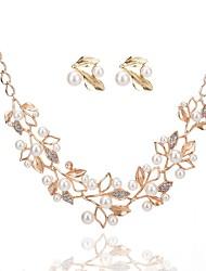 Недорогие -Жен. Серьги-слезки Ожерелья с подвесками Искусственный жемчуг Стразы Классика Мода Для вечеринок Обручение Искусственный жемчуг