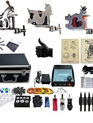 cheap -BaseKey Tattoo Machine Professional Tattoo Kit, 3 pcs Tattoo Machines - 3 steel machine liner & shader Professional