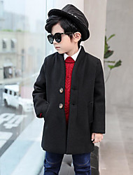 cheap -Boys' Solid Trench Coat Long Sleeves Green Black Yellow