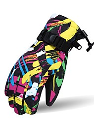 Недорогие -Лыжные перчатки Для пары Снежные виды спорта Полный палец Зима Сохраняет тепло Хлопок Катание на лыжах Велоспорт