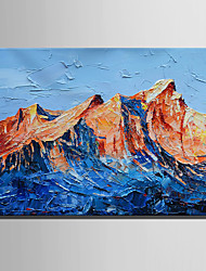 cheap -Oil Painting Hand Painted - Landscape Rustic Modern Canvas
