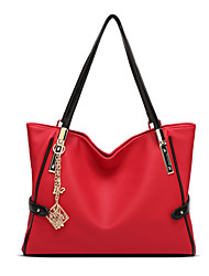 cheap -Women Bags PU Shoulder Bag Zipper for Formal Office & Career All Seasons Blue Black Red Gray